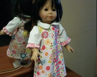 """18"""" Doll jumper and blouse"""