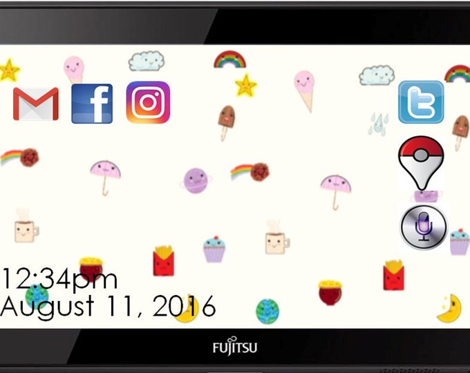 Cute Kawaii Digital Desktop Background