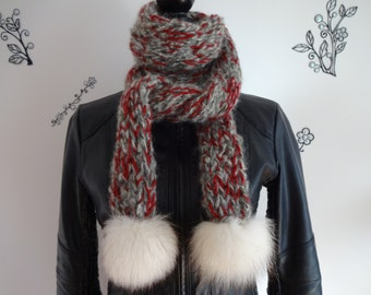 Wool scarf and fur!