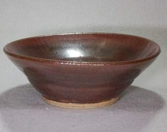 Brick Red Oval Stoneware Cereal, Soup or Salad Bowl