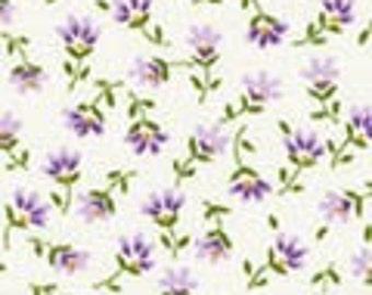 Robert Kaufman  - Sevenberry Petite Fluers Lavender - SB-6100D3-20 - Lavender - Flowers - Floral - Print - Small Flowers - One More Yard
