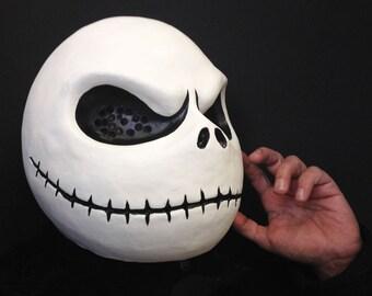 Jack Skellington costume mask head. Adult size. Handmade. Nightmare Before Christmas. Halloween cosplay masquerade mask men, women.