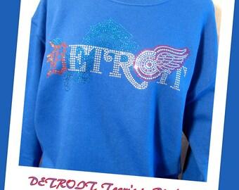 Sweatshirt - Detroit's TEAMS in Blue