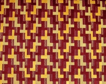 LEE JOFA G P & J BAKER Deco Geometric Grospoint Cut Velvet Upholstery Fabric 5 Yards