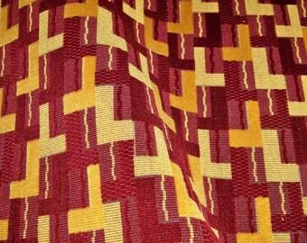 LEE JOFA G P & J BAKER Deco Geometric Grospoint Cut Velvet Upholstery Fabric 4 Yards