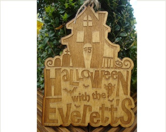 Personalised Halloween Sign