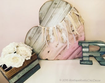 Ombre' Wood Pallet Heart