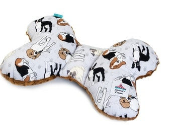 EU Seller - Ergonomic Baby Pillow in Minky Butterfly Travel Pillow DOGS and CAPUCCINO Minky