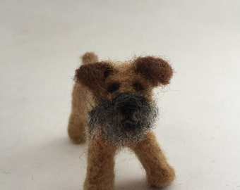 Needle-Felted Brussels Griffon Dog Sculpture