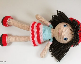 PATTERN : Doll -  Amigurumi Doll - Crochet pattern - pattern - Stuffed doll - Doll - toy - baby shower
