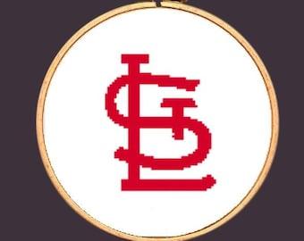 St. Louis Cardinals Cross Stitch Pattern PDF Download MLB Missouri
