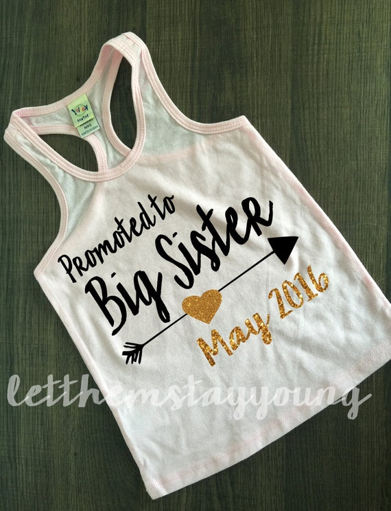 Promoted to big sister baby announcement by letthemstayyoung for Big sister birth announcement shirts