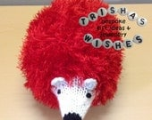 Hedgehog  Animal Toy  Stuffed Toy  Cuddly  Soft  Gift  Handmade  Knitted