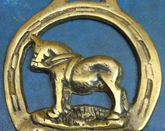 """Rare vintage HORSE BRASS """" Staintondale Style Design Made in England"""