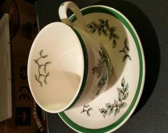 Christmas cup and saucer set