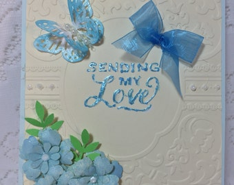 Love, Greeting card, Handmade