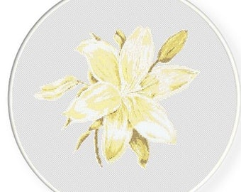 MORE for FREE - Lily - Counted Cross stitch pattern PDF - Instant Download - Cross Stitch Pattern - Flowers-Love- Needlepoint #1443