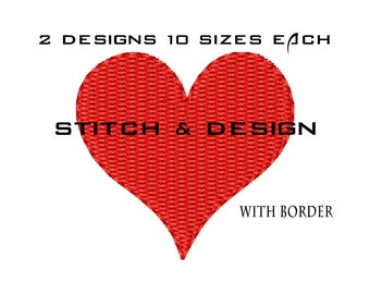 Machine Embroidery Heart - Filled Heart - Embroidery Designs