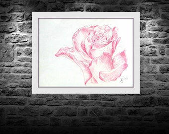 The Pink Rose, 2013.  Original handmade artwork directly from artist.