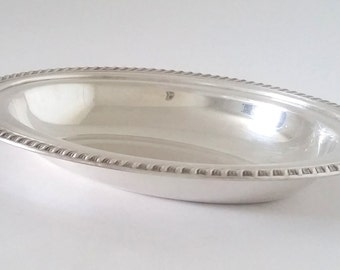 Silver Plated Oval Dish - Vintage