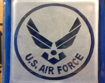 us air force glass block decoration