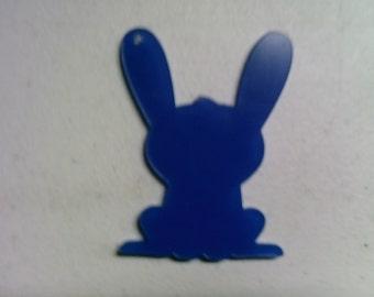 5 acrylic BUNNY with ear up key chain