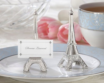 Eiffel Tower Silver-Finish Place Card Holder (Set of 4)