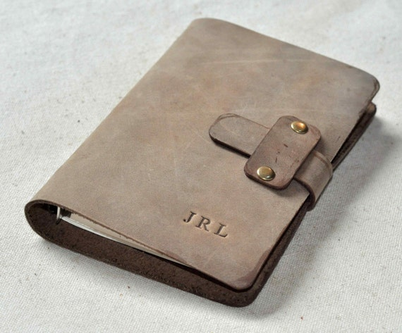 Refillable lined leather journal Notebook good for gift free