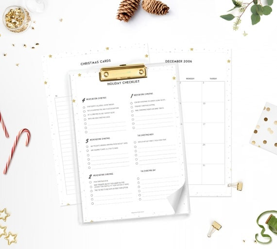 Printable Christmas Planner 2016 / Holiday Organiser • A4 and US Letter • Minimalistic & Stylish