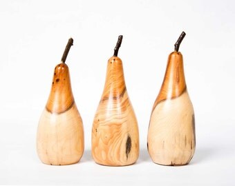 Set of 3 Yew Pears