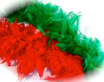 Red or Green Chandelle Boa Feather Boas Costume Trim