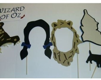18pc Wizard of Oz inspired photo prop / Wicked Witch /  Dorothy / Tin Man / Cowardly Lion / Scarecrow (2075D)