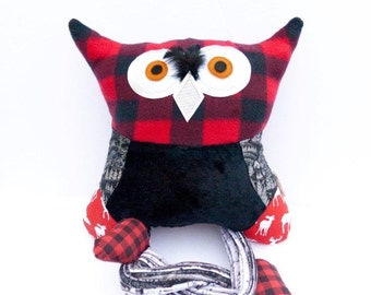 Stuffed canadien owl pillow plush kid