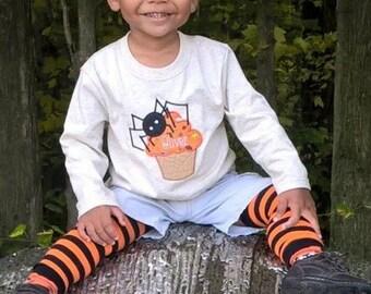 Spider Cupcake Halloween Fall teeshirt