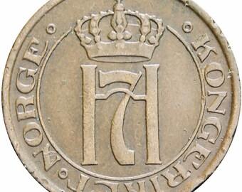 Norway 1913 2 Øre Haakon VII Coin