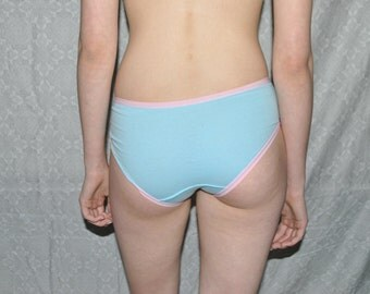 Blue and Pink Cotton Womens Panties