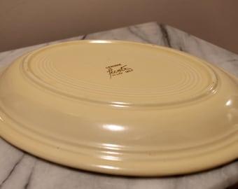 Vintage Ivory Fiestaware Oval Serving Platter Circa 1940s | Vintage Homer Laughlin China | Ivory Fiesta | Vintage Fiesta ware Serving Plate