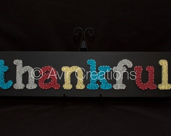 Thankful String Art Board
