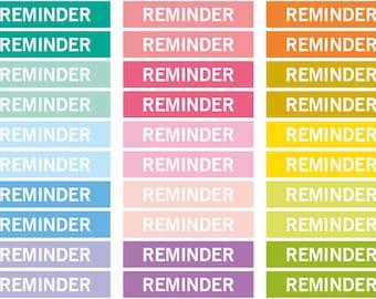 Reminder Heading stickers, planner header stickers, planner stickers, agenda notebook journal stickers, eclp filofax happy planner kikkik