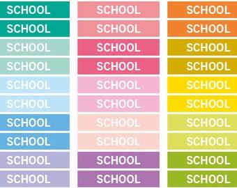 School Heading stickers, planner header stickers, planner stickers, agenda notebook journal stickers, eclp filofax happy planner kikkik