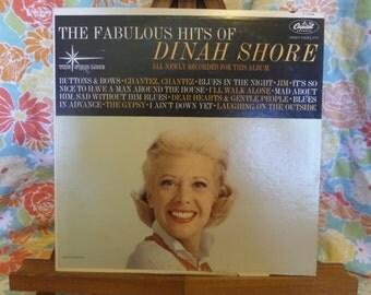 The Fabulous Hits of Dinah Shore Record LP Album
