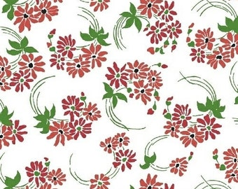 Hazel 40837 4 Red Flower Swirl