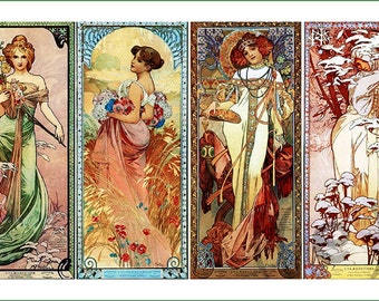 fabric panel - painting by Alphonse Mucha (17)