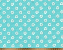 Small White Flowers on Teal Background - Monaco Collection- Red Rooster Fabrics- 100% Cotton High Quality Quilting Fabric
