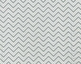 Gray Chevron- Urban Zoo Collection by Galaxy Fabrics - 100% Cotton Fabric