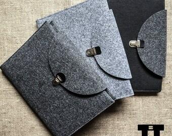 Felt notebook case. Handmade felt notebook cover. A4 & A5 size.