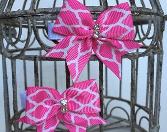 Pink hair clips, toddler hair clips, girls hair clips, hair barrettes