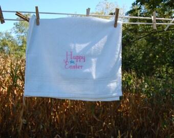 Happy Easter Bunny Hand Towel