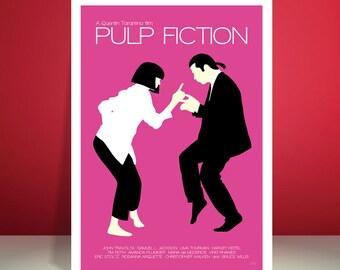 Pulp Fiction // Jack Rabbit Slim's Restaurant Dance Scene // Minimalist Movie Poster // Unique A4 / A3 Art Print