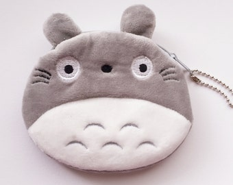 totoro plush coin purse